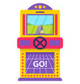 arcade game for adults and kids 8bit machine vector image