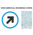 Arrow Up Right Icon with 1000 Medical Business vector image vector image