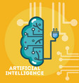 Artificial intelligence concept cartoons