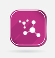 atom molecule Color square icon vector image vector image