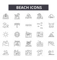 beach line icons for web and mobile design vector image