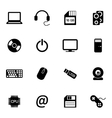 black computer icons set vector image vector image