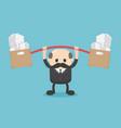boss businessmen with overwhelming workloads vector image