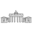 Brandenburg Gate in Berlin vector image vector image