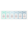 business infographics with 6 steps options vector image vector image