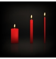 Candle set vector image vector image