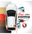 car painting station vector image vector image