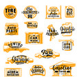 car service isolated icons lettering vector image vector image