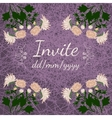 Card with fresh flowers invitation to a great vector image vector image