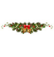 christmas holiday decorations vector image