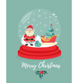 christmas new year background with snowball vector image vector image