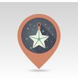 Christmas Star flat pin map icon vector image vector image