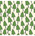 christmas trees seamless pattern wrapping new vector image vector image