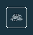 coins stacked icon line symbol premium quality vector image