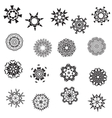 Collection of seventeen graphic patterned vector image vector image