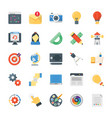 creative process flat icons set vector image vector image