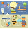 Creative thinking and creative team vector image