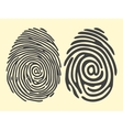 finger print email vector image