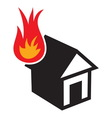 Fire in the house3 resize vector image vector image