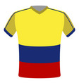 flag t-shirt of colombia vector image