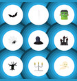 flat icon celebrate set of monster spinner vector image vector image