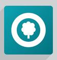 flat tree icon vector image vector image