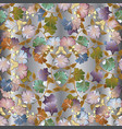 floral colorful 3d seamless pattern light vector image