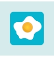 fried eggs design vector image