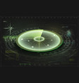 futuristic radar screen searching target air vector image