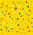 golden stars seamless pattern swatch background vector image vector image
