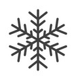 gray snowflake symbol isolated on white background vector image vector image