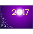 happy new year 2017 with clock abstract background vector image vector image
