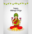 hindu festival akshaya tritiya vector image