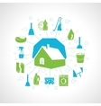 House cleaning concept vector image