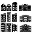 houses collection bold european buildings vector image vector image