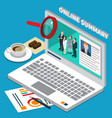 isometric hr management composition vector image vector image