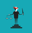 justice concept in flat cartoon style vector image