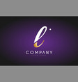 l alphabet letter gold golden logo icon design vector image vector image