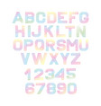 linear font alphabet multicolored lines vector image vector image