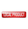 local product red square 3d realistic isolated vector image vector image