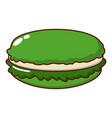 macaroons icon cartoon style vector image