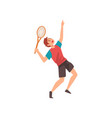 male tennis player professional sportsman vector image vector image
