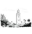 marocco vector image