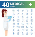 medical health and healthcare iconsinfographic vector image vector image