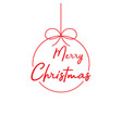 merry christmas lettering template red template vector image vector image