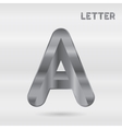 Metallic alphabet Set of stainless 3d letters vector image vector image