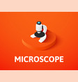 microscope isometric icon isolated on color vector image