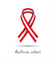 modern colored ribbon with the austrian colors vector image vector image