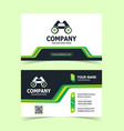 modern creative and clean business card vector image vector image