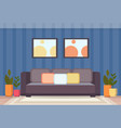 modern home living room interior design empty no vector image